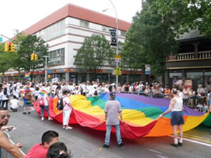LBGT Parade In Jackson Heights   lesbian gay bi-sexual transgender LGBT Pride Parade Jackson Heights queens ny